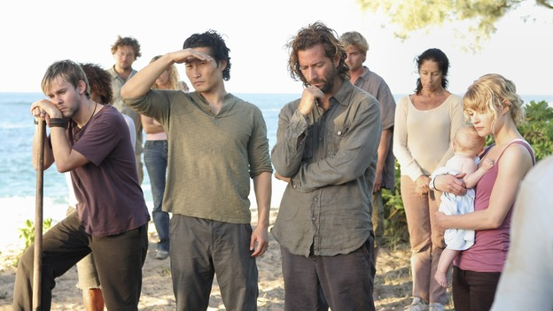 "LOST - ""Expos"" - Hurley begins to suspect that Sawyer may be involved in an island mystery surrounding two fellow survivors, and Sun learns the truth about her past kidnapping attempt by ""The Others,"" on ""Lost,"" WEDNESDAY, MARCH 28 (10:00-11:00 p.m., ET), on the ABC Television Network. (ABC/MARIO PEREZ)DOMINIC MONAGHAN, DANIEL DAE KIM, HENRY IAN CUSICK, EMILIE DE RAVIN"