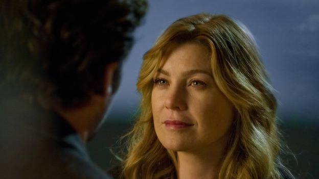 "GREY'S ANATOMY - ""Freedom"" - On the two-hour season finale of ""Grey's Anatomy,"" Meredith and Derek have one last shot at a successful outcome in their clinical trial, as the other surgeons work together to free a boy from a hardening block of cement. Meanwhile, Izzie helps Alex care for an ailing Rebecca, and Lexie discovers critical information about George's intern status, on ""Grey's Anatomy,"" THURSDAY, MAY 22 (9:00-11:00 p.m., ET) on the ABC Television Network. (ABC/RANDY HOLMES)PATRICK DEMPSEY, ELLEN POMPEO"
