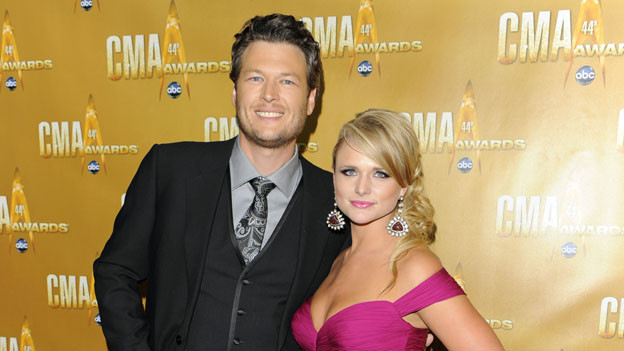 THE 44TH ANNUAL CMA AWARDS - RED CARPET ARRIVALS - &quot;The 44th Annual CMA Awards&quot; will be broadcast live from the Bridgestone Arena in Nashville, WEDNESDAY, NOVEMBER 10 (8:00-11:00 p.m., ET) on the ABC Television Network. (ABC/ANDREW WALKER)BLAKE SHELTON, MIRANDA LAMBERT