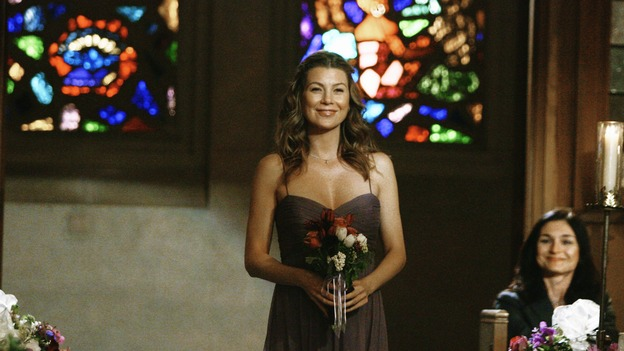 "GREY'S ANATOMY - ""What a Difference a Day Makes"" - Meredith walks down the aisle in Izzie and Alex's wedding, on ""Grey's Anatomy,""  THURSDAY, MAY 7 (9:00-10:02 p.m., ET) on the ABC Television Network. ELLEN POMPEO"