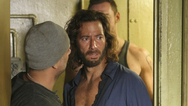 "LOST - ""The Constant"" - Sayid and Desmond hit a bit of turbulence on the way to the freighter, which causes Desmond to experience some unexpected side effects, on ""Lost,"" THURSDAY, FEBRUARY 28 (9:00-10:02 p.m., ET) on the ABC Television Network. (ABC/MARIO PEREZ) ANTHONY AZIZI, HENRY IAN CUSICK, KEVIN DURAND"