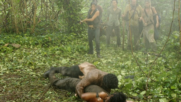 LOST - &quot;Collision&quot; (ABC/MARIO PEREZ)NAVEEN ANDREWS, ADEWALE AKINNUOYE-AGBAJE, MICHELLE RODRIGUEZ, HAROLD PERRINEAU, DANIEL DAE KIM, SAM ANDERSON, CYNTHIA WATROS
