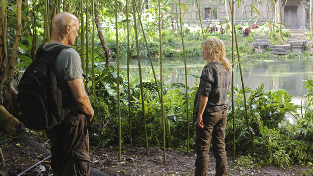 "LOST - ""Sundown"" - Sayid is faced with a difficult decision, and Claire sends a warning to the temple inhabitants, on ""Lost,"" TUESDAY, MARCH 2 (9:00-10:00 p.m., ET) on the ABC Television Network. (ABC/MARIO PEREZ)TERRY O'QUINN, EMILIE DE RAVIN"