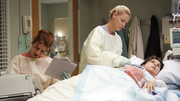 "GREY'S ANATOMY - ""INTO YOU LIKE A TRAIN"" (ABC/CRAIG SJODIN)KATE WALSH, KATHERINE HEIGL, MICHELLE ARTHUR"