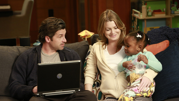 "GREY'S ANATOMY - ""This Is Why We Fight"" - As word of Seattle Grace's financial trouble spreads, Catherine encourages Jackson to move to Boston, and the interns fear they might lose their jobs. Meanwhile, the doctors meet with a potential investor in a last-ditch effort to save the hospital, and Alex impresses Jo while caring for a patient, on ""Grey's Anatomy,"" THURSDAY, FEBRUARY 21 (9:00-10:02 p.m., ET) on the ABC Television Network. (ABC/RON TOM)PATRICK DEMPSEY, ELLEN POMPEO"