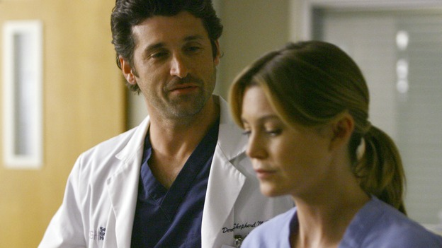 GREY'S ANATOMY - &quot;Dream a Little Dream of Me&quot; - On the two-hour season premiere of &quot;Grey's Anatomy,&quot; Meredith and Derek learn that &quot;happily ever after&quot; isn't easy, a military doctor who brings in a trauma patient catches Cristina's eye, and the Chief and his staff reel at the news that Seattle Grace is no longer nationally ranked as a top-tier teaching hospital, on &quot;Grey's Anatomy,&quot; THURSDAY, SEPTEMBER 25 (9:00-11:00 p.m., ET) on the ABC Television Network. (ABC/SCOTT GARFIELD)PATRICK DEMPSEY, ELLEN POMPEO