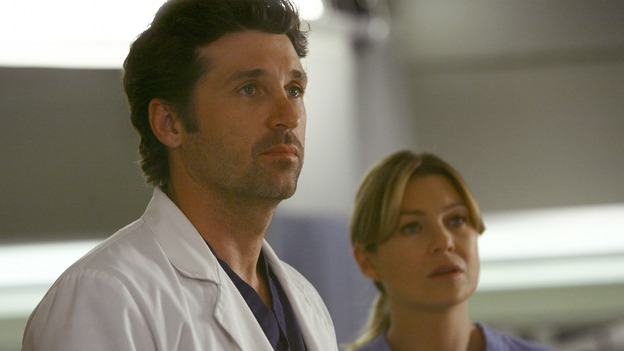 "GREY'S ANATOMY - ""Dream a Little Dream of Me"" - Meredith and Derek check in on a new patient, on ""Grey's Anatomy,"" THURSDAY, SEPTEMBER 25 (9:00-11:00 p.m., ET) on the ABC Television Network. (ABC/SCOTT GARFIELD) PATRICK DEMPSEY, ELLEN POMPEO"