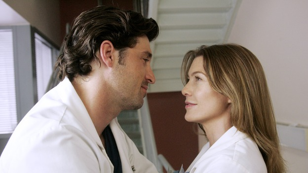 "GREY'S ANATOMY - ""I Am a Tree"" - Cristina meets Burke's parents -- and in the most awkward of circumstances -- the interns campaign for Izzie's reinstatement to the surgical intern program, Addison takes a break from her hospital duties, and a surgical patient lives what may be her last day to the fullest, on ""Grey's Anatomy,"" THURSDAY, SEPTEMBER 28 (9:00-10:01 p.m., ET) on the ABC Television Network. (ABC/VIVIAN ZINK)PATRICK DEMPSEY, ELLEN POMPEO"