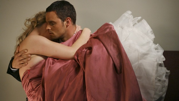 GREY'S ANATOMY - In the first hour of part two of the season finale of ABC's &quot;Grey's Anatomy&quot; -- &quot;Deterioration of the Fight or Flight Response&quot; -- Izzie and George attend to Denny as the pressure increases to find him a new heart, Cristina suddenly finds herself in charge of an ER, and Derek grapples with the realization that the life of a friend is in his hands. In the second hour, &quot;Losing My Religion,&quot; Richard goes into interrogation mode about a patient's condition, Callie confronts George about his feelings for her, and Meredith and Derek meet about Doc. Part two of the season finale of &quot;Grey's Anatomy&quot; airs MONDAY, MAY 15 (9:00-11:00 p.m., ET) on the ABC Television Network. (ABC/SCOTT GARFIELD)KATHERINE HEIGL, JUSTIN CHAMBERS