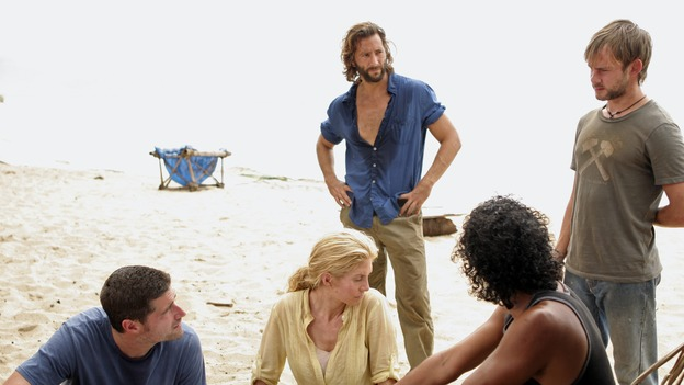 LOST - &quot;Greatest Hits&quot; - While Jack devises a plan to do away with &quot;The Others&quot; once and for all, Sayid uncovers a flaw in &quot;The Others'&quot; system that could lead to everyone's rescue. But it requires Charlie to take on a dangerous task that may make Desmond's premonition come true, on &quot;Lost,&quot; WEDNESDAY, MAY 16 (10:00-11:00 p.m., ET), on the ABC Television Network. (ABC/MARIO PEREZ)MATTHEW FOX, ELIZABETH MITCHELL, HENRY IAN CUSICK, NAVEEN ANDREWS, DOMINIC MONAGHAN