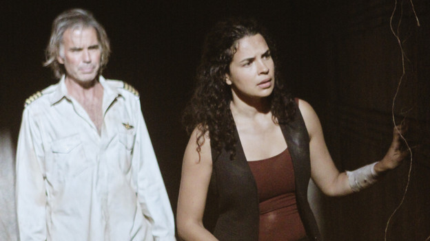 "LOST - ""Sundown"" - Sayid is faced with a difficult decision, and Claire sends a warning to the temple inhabitants, on ""Lost,"" TUESDAY, MARCH 2 (9:00-10:00 p.m., ET) on the ABC Television Network. (ABC/MARIO PEREZ)JEFF FAHEY, ZULEIKHA ROBINSON"