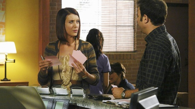 PRIVATE PRACTICE - &quot;Homeward Bound&quot; - As Addison and Kevin struggle in their relationship, she finds herself attracted to Wyatt, the cocky doctor from rival Pacific Wellcare, while Violet seeks a way to carry on relationships with both Pete and Sheldon, and Cooper grows closer to Charlotte when she experiences a family emergency, on &quot;Private Practice,&quot; THURSDAY, JANUARY 15 (10:01-11:00 p.m., ET) on the ABC Television Network. (ABC/RICHARD CARTWRIGHT)KATE WALSH, PAUL ADELSTEIN