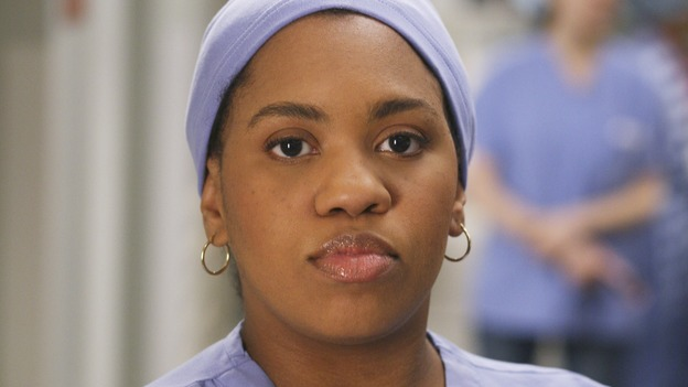 "GREY'S ANATOMY - ""Let the Angels Commit"" -- Cristina scrubs in on the rare 'humpty dumpty' procedure, much to the envy of her fellow doctors, Alex questions his future medical specialty, George and Addison work with a pregnant woman with an unusual dilemma, and Derek receives a surprise visit from his sister, on ""Grey's Anatomy,"" THURSDAY, OCTOBER 26 (9:00-10:01 p.m., ET) on the ABC Television Network. (ABC/RICHARD CARTWRIGHT)CHANDRA WILSON"