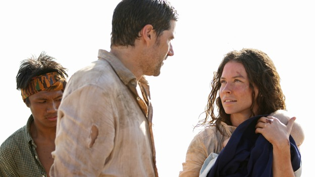 "LOST - ""There's No Place Like Home,"" Parts 2 & 3 - The face-off between the survivors and the freighter people continues, and the Oceanic Six find themselves closer to rescue, on the two-hour Season Finale of ""Lost,"" THURSDAY, MAY 29 (9:00-11:00 p.m., ET) on the ABC Television Network. (ABC/MARIO PEREZ)MATTHEW FOX, EVANGELINE LILLY"