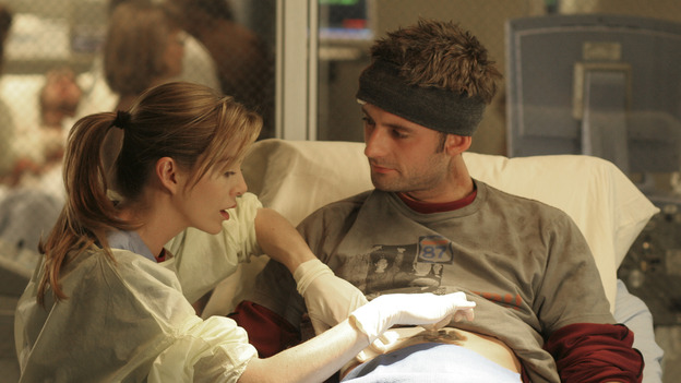 "102004_9749 -- COMPLICATIONS - ""WINNING A BATTLE, LOOSING A WAR"" (ABC/MICHAEL ANSELL)ELLEN POMPEO, CALLUM BLUE"