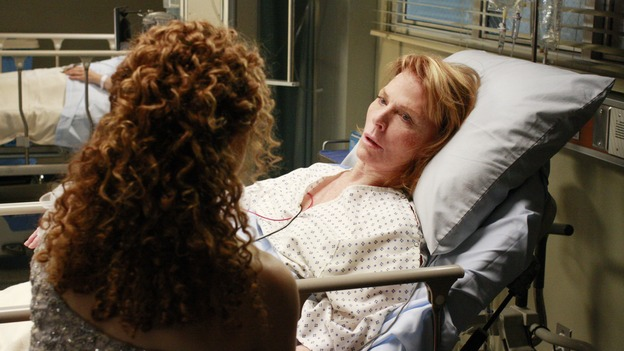 "GREY'S ANATOMY - ""Dream a Little Dream of Me"" - On the two-hour season premiere of ""Grey's Anatomy,"" Meredith and Derek learn that ""happily ever after"" isn't easy, a military doctor who brings in a trauma patient catches Cristina's eye, and the Chief and his staff reel at the news that Seattle Grace is no longer nationally ranked as a top-tier teaching hospital, on ""Grey's Anatomy,"" THURSDAY, SEPTEMBER 25 (9:00-11:00 p.m., ET) on the ABC Television Network. (ABC/RON TOM)BERNADETTE PETERS, MARIETTE HARTLEY"
