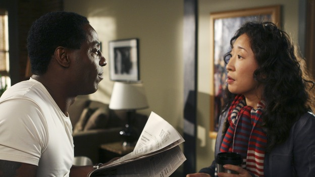 GREY'S ANATOMY - &quot;Tell Me Sweet Little Lies&quot; (ABC/MICHAEL DESMOND)ISAIAH WASHINGTON, SANDRA OH
