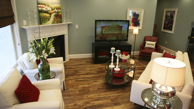 "EXTREME MAKEOVER HOME EDITION - ""Tripp Family,"" - Living Room, on ""Extreme Makeover Home Edition,"" Sunday, February 14th on the ABC Television Network."