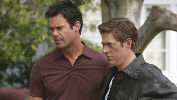 "DESPERATE HOUSEWIVES - ""Opening Doors"" - Bob stands by his man, on ""Desperate Housewives,"" SUNDAY, MAY 4 (9:00-10:02 p.m., ET) on the ABC Television Network.  (ABC/DANNY FELD) TUC WATKINS, KEVIN RAHM"