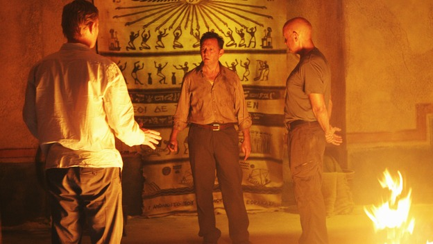 "LOST - ""The Incident,"" Parts 1 & 2 - Jack's decision to put a plan in action in order to set things right on the island is met with some strong resistance by those close to him, and Locke assigns Ben a difficult task, on the season finale of ""Lost,"" WEDNESDAY, MAY 13 (9:00-11:00 p.m., ET) on the ABC Television Network. (ABC/MARIO PEREZ)MARK PELLEGRINO, MICHAEL EMERSON, TERRY O'QUINN"