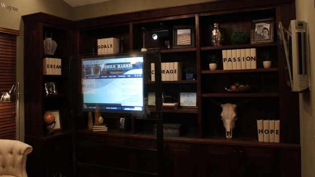 "EXTREME MAKEOVER HOME EDITION - Home Office Photo, ""Harris Family,"" on ""Extreme Makeover Home Edition,"" Monday, December 10th (8:00-10:00 p.m. ET/PT) on the ABC Television Network."