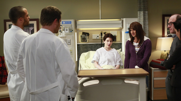 "GREY'S ANATOMY - ""The Face of Change"" - Competition heats up as several of the doctors fight to become the new face of Seattle Grace; April brings in an emergency case, and Jackson and Alex work with a transgender teen couple. Meanwhile, the hospital implements new policies which test the patience of the staff, on ""Grey's Anatomy,"" THURSDAY, FEBURARY 7 (9:00-10:02 p.m., ET) on the ABC Television Network. (ABC/RON TOM)JESSE WILLIAMS, JUSTIN CHAMBERS, RACHEL BROSNAHAN, MATT PASCUA, BRETT RICKABY"