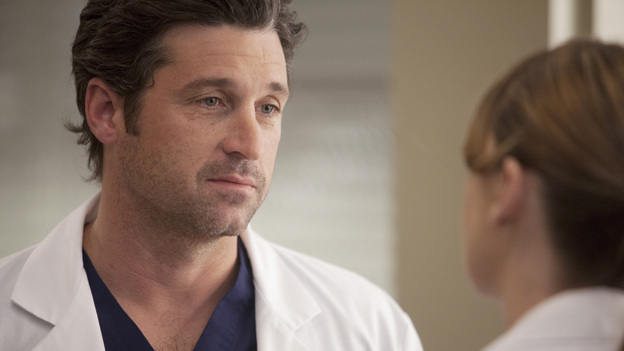"GREY'S ANATOMY - ""The Girl with No Name"" - The doctors work on a Jane Doe, who turns out to be the subject of a case that gained national interest; Cristina proves to be the highest in demand as the residents begin their interviews for post-residency positions at prospective hospitals; and Richard is faced with an unsettling realization when he visits Adele at Rose Ridge, on ""Grey's Anatomy,"" THURSDAY, APRIL 19 (9:00-10:01 p.m., ET) on the ABC Television Network. (ABC/RANDY HOLMES)PATRICK DEMPSEY, ELLEN POMPEO"