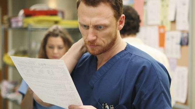 "GREY'S ANATOMY - ""Wish You Were Here"" - Owen examines a chart, on ""Grey's Anatomy,"" THURSDAY, JANUARY 8 (9:00-10:01 p.m., ET) on the ABC Television Network. (ABC/CRAIG SJODIN) KEVIN MCKIDD"