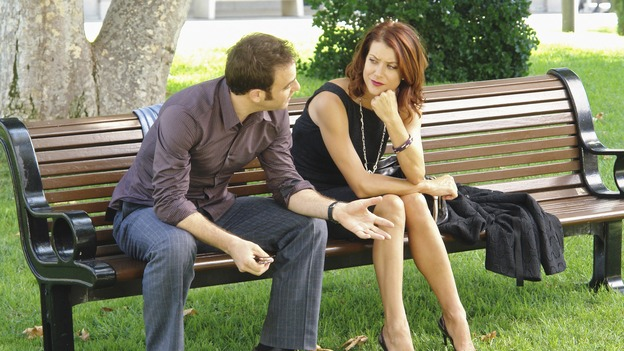 "PRIVATE PRACTICE - ""Worlds Apart"" - Pete's girlfriend, Meg, returns to Los Angeles and notices that Pete and Violet are considerably closer; Kevin questions the direction he and Addison are headed in as a couple; Cooper treats a young diabetic boy with a mysterious past; and Charlotte and her team of Pacific Wellcare doctors continue to siphon business away from Oceanside Wellness, on ""Private Practice,"" WEDNESDAY, DECEMBER 17 (9:00-10:01 p.m., ET) on the ABC Television Network. (ABC/RICHARD CARTWRIGHT)PAUL ADELSTEIN, KATE WALSH"