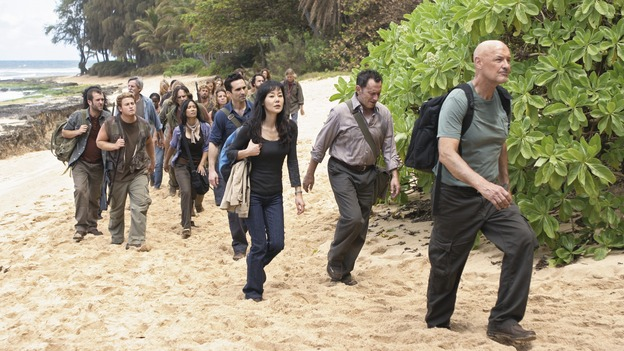 "LOST - ""Follow the Leader"" - Jack and Kate find themselves at odds over the direction to take to save their fellow island survivors, Locke further solidifies his stance as leader of ""The Others,"" and Sawyer and Juliet come under scrutiny from the Dharma Initiative, on ""Lost,"" WEDNESDAY, MAY 6 (9:00-10:02 p.m., ET) on the ABC Television Network.  (ABC/MARIO PEREZ)NESTOR CARBONELL, YUNJIN KIM, MICHAEL EMERSON, TERRY O'QUINN"