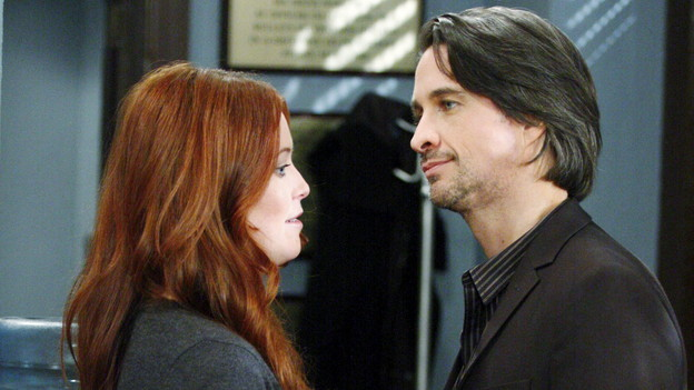 "Michael Easton, Melissa Archer""One Life to Live"" Set ABC StudiosNew York 11/12/10©George De Sota/jpistudios.com310-657-9661Episode # 10831air date 12/15/10"