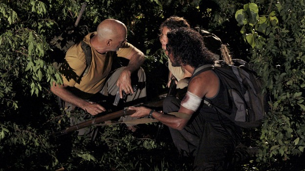 "LOST - ""The Man from Tallahassee"" - Ben tries to persuade a determined Locke to call off his destructive plan by offering him some of the secrets of the island, and Kate's reunion with Jack does not go off as planned when she discovers that he has made a deal with ""The Others,"" on ""Lost,"" WEDNESDAY, MARCH 21 (10:00-11:00 p.m., ET), on the ABC Television Network. (ABC/MARIO PEREZ)TERRY O'QUINN, EVANGELINE LILLY, NAVEEN ANDREWS"