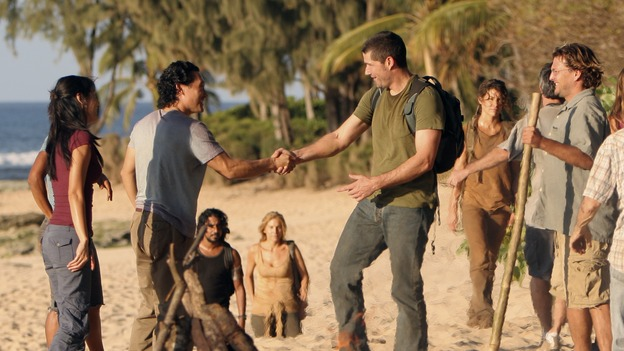 "LOST - ""One of Us"" - Jack's joyous reunion with his fellow survivors is cut short when they realize that accompanying him is one of ""The Others,"" and Claire is stricken by a mysterious, life-threatening illness, on ""Lost,"" WEDNESDAY, APRIL 11 (10:00-11:00 p.m., ET), on the ABC Television Network. (ABC/MARIO PEREZ)YUNJIN KIM, DANIEL DAE KIM, NAVEEN ANDREWS, ELIZABETH MITCHELL, MATTHEW FOX, EVANGELINE LILLY"