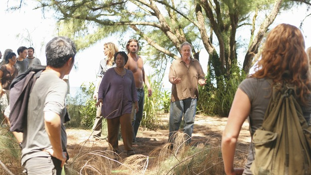 LOST - Awarded the 2005 Emmy and 2006 Golden Globe for Best Drama Series, &quot;Lost&quot; returns for its fifth season of action-packed mystery and adventure -- that will continue to bring out the very best and the very worst in the people who are lost, WEDNESDAY, JANUARY 21 (9:00-11:00 p.m., ET) on the ABC Television Network. In the first part of the season premiere, entitled &quot;Because You Left,&quot; the remaining island survivors start to feel the effects of the aftermath of moving the island, and Jack and Ben begin their quest to reunite the Oceanic 6 in order to return to the island with Locke's body in an attempt to save their former fellow castaways. (ABC/MARIO PEREZ)KEN LEUNG, ELIZABETH MITCHELL, L. SCOTT CALDWELL, SAM ANDERSON, REBECCA MADER