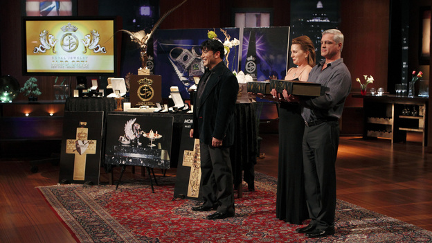 SHARK TANK - &quot;Episode 208&quot; -- A woman from Yardley, Pennsylvania could help cat lovers everywhere if the Sharks invest in her toilet training kit for cats, and the Sharks fight each other for a piece of a multi-million dollar company owned by a pharmacist from Palm Beach Gardens, Florida, who has invented a shoe with interchangeable tops. Also in this episode, an entrepreneur from Chicago is hoping to reposition her once successful designer line of maternity t-shirts; and an artist originally from Mexico City (now living in Chicago) and eager to make his American dream come true hopes the Sharks will want to invest in his line of extravagant yet affordable jewelry. In addition there will be a follow up from Season 1 on the father and son team behind Voyage Air Guitar and what happened to their business after turning down the Sharks' $1 million dollar offer, on the Season Finale of &quot;Shark Tank,&quot; FRIDAY, MAY 13 (8:00-9:00 p.m., ET) on the ABC Television Network. (ABC/CRAIG SJODIN)ALDO ORTA (ALDO ORTA JEWELRY)