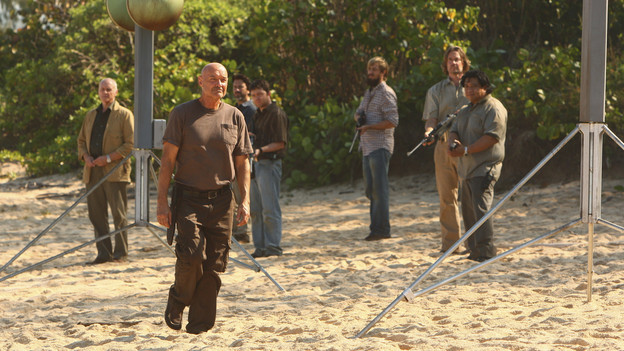 "LOST - ""The Package"" - Sun and Jin desperately continue their search for one another, and Locke confronts his enemy, on ""Lost,"" TUESDAY, MARCH 30 (9:00-10:02 p.m., ET) on the ABC Television Network. (ABC/MARIO PEREZ)ALAN DALE, TERRY O'QUINN, FRED KOEHLER"