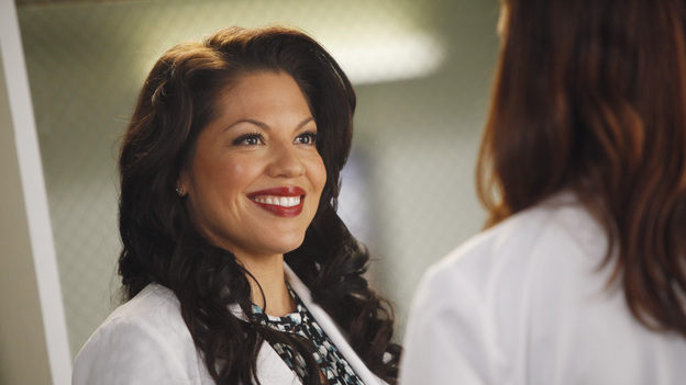 GREY'S ANATOMY - &quot;If/Then&quot; - As Meredith puts Zola to bed and falls asleep, she begins to wonder -- what if her mother had never had Alzheimer's and she'd had loving, supportive parents? The reverberations of a happy Meredith Grey change the world of Seattle Grace as we know it. What if she had never met Derek in that bar and he had never separated from Addison? What if Callie and Owen had become a couple long before she met Arizona? And what if Bailey never evolved from the meek intern she once was? &quot;Grey's Anatomy&quot; airs THURSDAY, FEBRUARY 2 (9:00-10:02 p.m., ET) on the ABC Television Network. (ABC/VIVIAN ZINK)SARA RAMIREZ