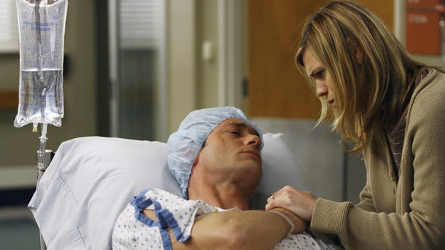 GREY'S ANATOMY - &quot;Piece of My Heart&quot; - Addison returns to Seattle Grace to perform an operation and is taken aback by all of the changes in her old co-workers' lives. Meanwhile Meredith and Derek's clinical trial has its first patient, and Rebecca/Ava returns with shocking news for Alex, on &quot;Grey's Anatomy,&quot; THURSDAY, MAY 1 (9:00-10:01 p.m., ET) on the ABC Television Network.  (ABC/SCOTT GARFIELD)JASON O'MARA, CLEA DUVALL