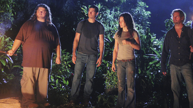 LOST - &quot;What They Died For&quot; - While Locke devises a new strategy, Jack's group searches for Desmond, on &quot;Lost,&quot; TUESDAY, MAY 18 (9:00-10:02 p.m., ET) on the ABC Television Network. (ABC/MARIO PEREZ)JORGE GARCIA, MATTHEW FOX, EVANGELINE LILLY, JOSH HOLLOWAY