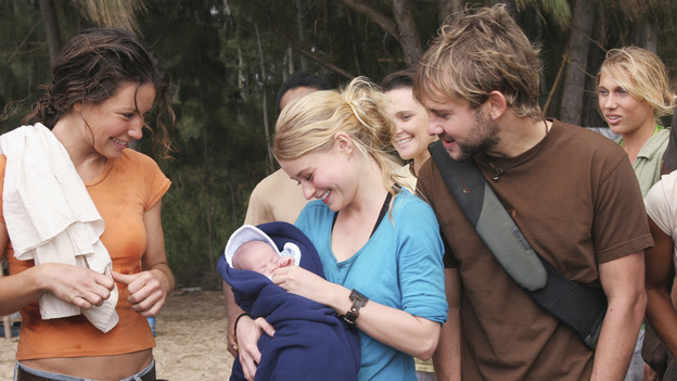 "102426_2663 -- LOST - ""Do No Harm"" - While Jack scrambles to save the life of a survivor, Claire goes into labor. Meanwhile, Locke is missing, and Sayid presents Shannon with a romantic surprise, on ""Lost,"" WEDNESDAY, APRIL 6 (8:00-9:01 p.m., ET), on the ABC Television Network.  (ABC/MARIO PEREZ)EVANGELINE LILLY, EMILIE DE RAVIN, DOMINIC MONAGHAN"