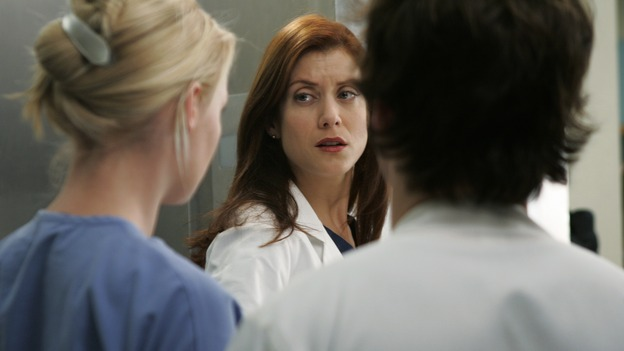 "GREY'S ANATOMY - ""It's the End of the World (As We Know It)"" (ABC/PETER ""HOPPER"" STONE)KATHERINE HEIGL, KATE WALSH, T.R. KNIGHT"