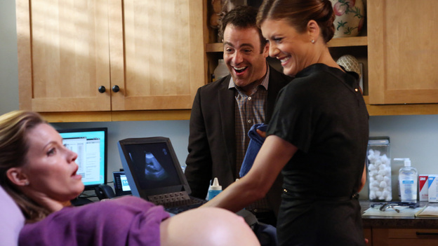 PRIVATE PRACTICE - &quot;Life Support&quot; - In an episode told from Cooper's point of view, we follow him from the moment of conception through a nasty fight with Charlotte, which inadvertently threatens the lives of their triplets. Meanwhile, Violet comforts a friend who is being advised to take her partner off life-support, on &quot;Private Practice,&quot; TUESDAY, DECEMBER 4 (10:00-11:00 p.m., ET) on the ABC Television Network. (ABC/DANNY FELD)KADEE STRICKLAND, PAUL ADELSTEIN, KATE WALSH
