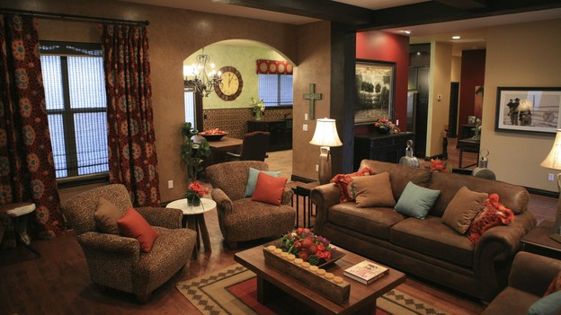 EXTREME MAKEOVER HOME EDITION - &quot;Skaggs Family,&quot; - Living Room, on &quot;Extreme Makeover Home Edition,&quot; Sunday, March 14th on the ABC Television Network.