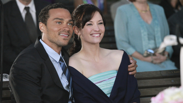 GREY'S ANATOMY - &quot;White Wedding&quot; - As Callie and Arizona's wedding approaches, the couple quickly realize that the day they've been looking forward to is not turning out the way they'd envisioned. Meanwhile Alex continues to make the other residents jealous as he appears to be the top contender for Chief Resident, Meredith and Derek make a decision that will change their lives forever, and Dr. Perkins presents Teddy with a very tempting proposition, on Grey's Anatomy,&quot; THURSDAY, MAY 5 (9:00-10:01 p.m., ET) on the ABC Television Network. (ABC/RICHARD CARTWRIGHT)JESSE WILLIAMS, CHYLER LEIGH