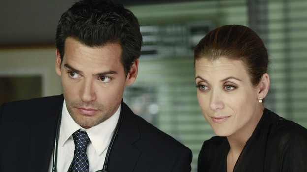 PRIVATE PRACTICE - &quot;Heaven Can Wait&quot; - Addison plans Bizzy and Susan's wedding while trying to keep her distance from the overly flirtatious Dr. Rodriquez. Sam is concerned about the care his longtime patient is receiving, and Sheldon refers Charlotte to his mentor and friend for psychiatric help, on &quot;Private Practice,&quot; THURSDAY, JANUARY 13 (10:01-11:00 p.m., ET) on the ABC Television Network. (ABC/RON TOM)CRISTIAN DE LA FUENTE, KATE WALSH