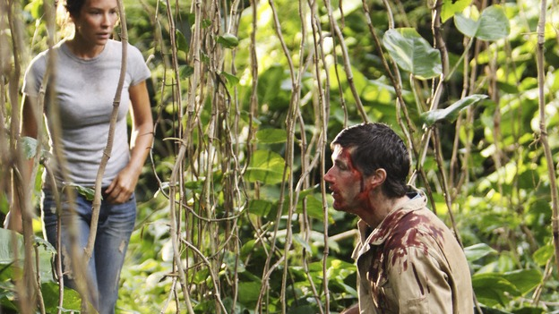 LOST - &quot;The Incident,&quot; Parts 1 &amp; 2 - Jack's decision to put a plan in action in order to set things right on the island is met with some strong resistance by those close to him, and Locke assigns Ben a difficult task, on the season finale of &quot;Lost,&quot; WEDNESDAY, MAY 13 (9:00-11:00 p.m., ET) on the ABC Television Network. (ABC/MARIO PEREZ)EVANGELINE LILLY, MATTHEW FOX