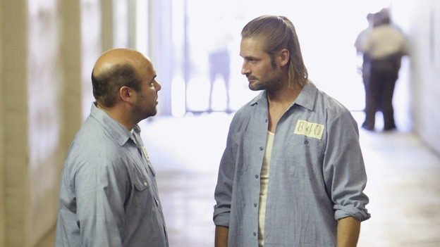 "LOST - ""Every Man for Himself"" - Sawyer discovers just how far his captors will go to thwart any plans of escape he and Kate might have, and Jack is called upon to scrub up in order to save the life of one of ""The Others."" Meanwhile, Desmond's behavior begins to perplex the survivors when he starts construction on an unknown device, on ""Lost,"" WEDNESDAY, OCTOBER 25 (9:00-10:01 p.m., ET), on the ABC Television Network. (ABC/MARIO PEREZ)IAN GOMEZ, JOSH HOLLOWAY"