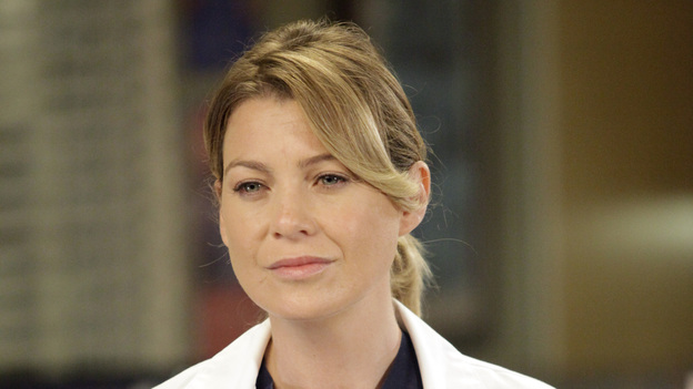 GREY'S ANATOMY - &quot;I Saw Her Standing There&quot; - Aware that Derek might never operate again, Meredith stops talking about the surgeries she's performing. Meanwhile, Richard calls on Dr. Catherine Avery to help him perform a complicated procedure, as things continue to heat up between Jackson and April; and Arizona's struggle to accept her fate forces Callie and Alex to face their guilt, on &quot;Grey's Anatomy,&quot; THURSDAY, OCTOBER 25 (9:00-10:02 p.m., ET) on the ABC Television Network.  (ABC/KELSEY MCNEAL)ELLEN POMPEO