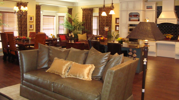 EXTREME MAKEOVER HOME EDITION - &quot;McCully Family,&quot; - Living Room, on &quot;Extreme Makeover Home Edition,&quot; Sunday, October 26th on the ABC Television Network.