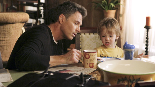 PRIVATE PRACTICE - &quot;Are You My Mother?&quot; -- Cooper struggles with whether or not to punish Mason after he catches him stealing; Pete and Violet find it hard to split time with Lucas now that they're living apart; Addison makes changes in her home life to prepare for a potential new baby; Violet and Jake work with two women and a man involved in a polyamorous triad; meanwhile Amelia returns to the practice and realizes how badly she hurt Sheldon when she was abusing drugs, on &quot;Private Practice,&quot; THURSDAY, JANUARY 5 (10:02-11:00 p.m., ET) on the ABC Television Network. (ABC/KAREN NEAL)TIM DALY, JACK/JOEY BOBO